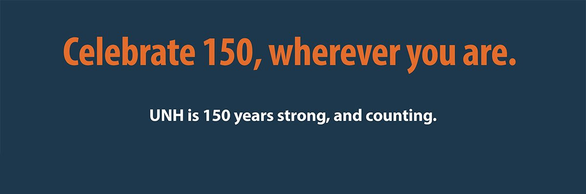 Celebrate our community and collective achievements as Wildcats, share our stories and begin an inspiring new chapter with CELEBRATE 150: The Campaign for UNH. Find an event near you!
