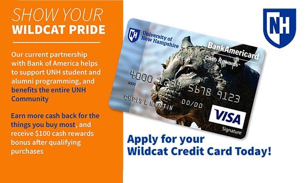 Get rewards and cash back with the UNH BankAmericard! Apply for your card today.