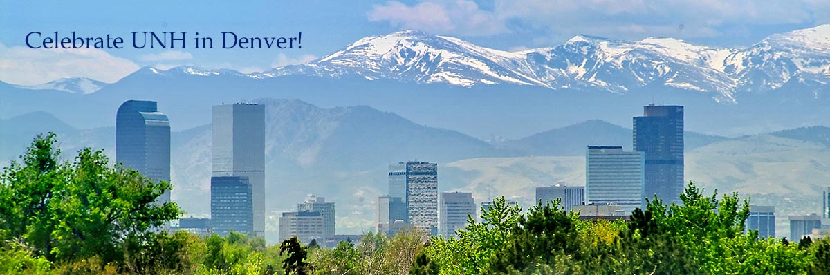 Join fellow alumni and friends to celebrate UNH's 150th in Denver on May 9! RSVP >>