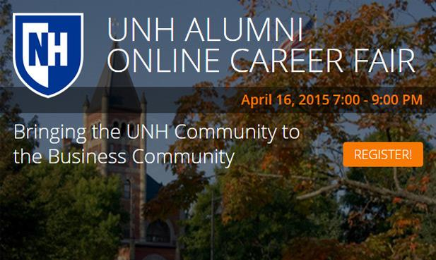 Alumni employers: Here's a unique opportunity to recruit members of the UNH network - from the comfort of your home or office!