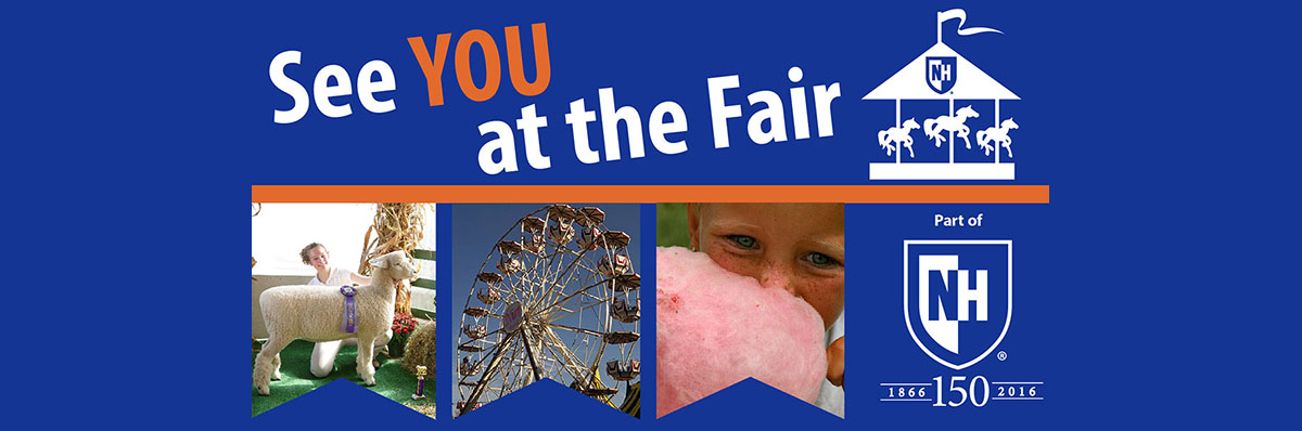 Saturday, July 23: UNH Day at the Stratham Fair. Get the details >>