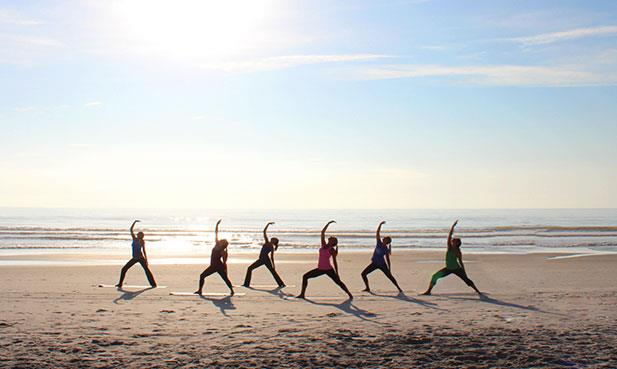 Join us for Rise and Shine Beach Yoga in North Hampton on Aug. 24.